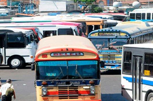 Rutas urbanas, sub-ubanas e inter-urbanas activas en Aragua